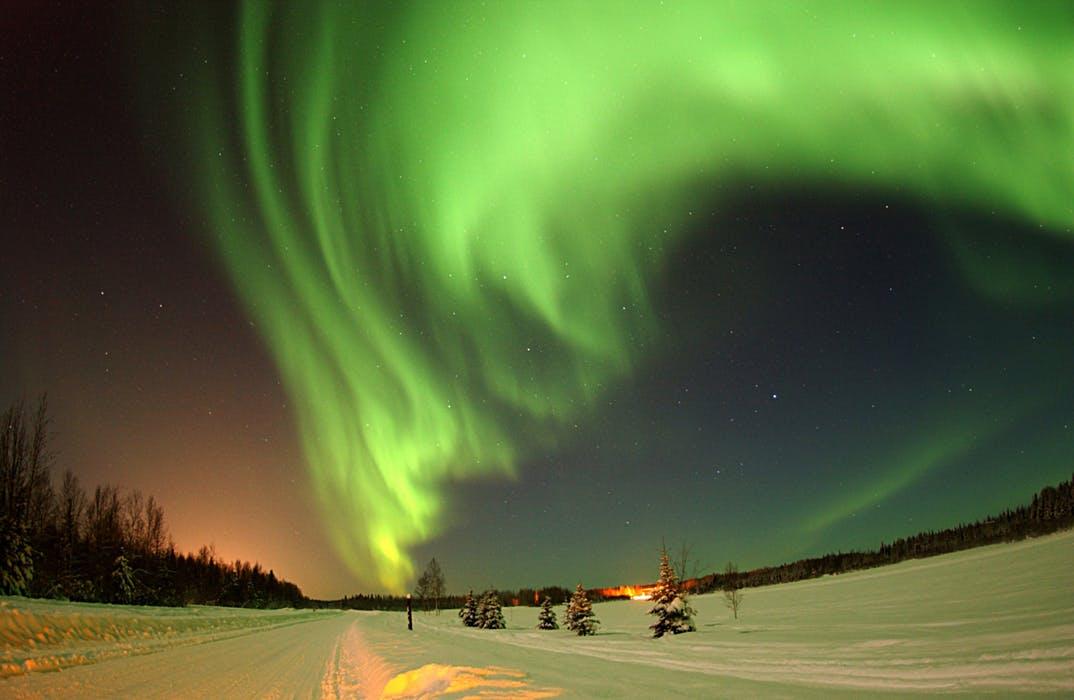Bilde av nordlys i Tromsø